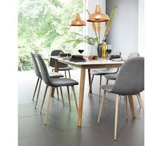 hygena beni dining table and 6 chairs grey at argos co uk your for dining sets dining tables and chairs home and garden