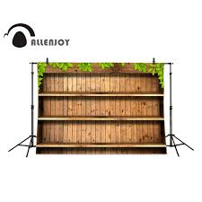 allenjoy photography backdrops wooden shelves plant wood brick wall backgrounds for photo studio