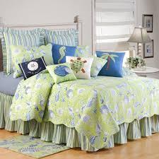 Caribbean Bedding, Island Comforters, Quilts, Bedspreads & Duvets & C & F Bedding Green Shells Twin Quilt Adamdwight.com