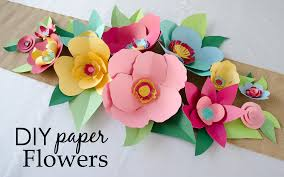 Make Flower With Paper Diy Hand Cut Paper Flowers Project Nursery