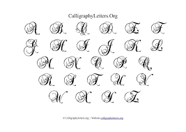 Calligraphy Letter Chart Theme 1 Calligraphy Letters