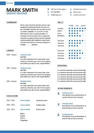 Graphic Resume Templates Resume Templates For Graphic Designers - techtrontechnologies.com