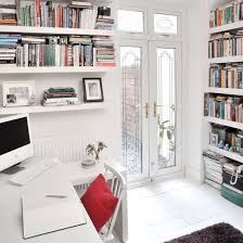 home office design gallery. All-white Home Office With White Walls, Floor And Desk Design Gallery F