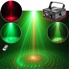 Green Laser Projector Light Aucd 20 Pattern Red Green Laser Projector 3w Blue Led