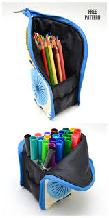 diy zippered pencil marker pouch free sewing pattern tutorial