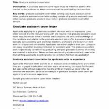 sample cover letter for graduate assistantship fresh sample cover letter for graduate assistantship stunning resume sample cover letter for graduate assistantship
