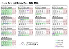 Term Dates – Dame Elizabeth Cadbury School