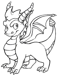 Dragon Coloring Pages Spyro Coloring Pages Of Cartoon Dragons 4905 ...
