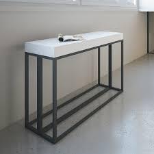 Design Konsolentisch Ausziehbarer Konsolentisch Aus Melaminholz Und Eisen In Modernen Design Baucina