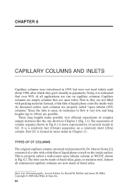 Capillary Columns And Inlets