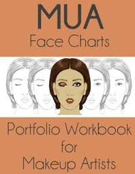 bol mua face charts portfolio workbook for makeup artists 9781544945781 sarie smith