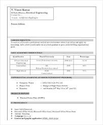 Fresher Mechanical Engineer Resume Format Resume Format For Diploma