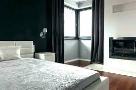 Black Bedroom Curtains And White Dark Modern Blackout Canopy Bed ...