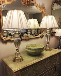 tuscan style lighting. Showroom Setting Featuring Tuscan Style Mirror; Pair Of Stunning Solid Crystal Lamps Over Hand- Lighting T