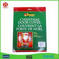 Christmas Plastic Door Poster Decoration Door Panel Cover Sheet
