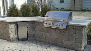 ham outdoor kitchen grill island with unilock estate block jpg
