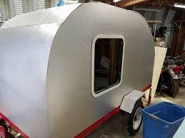 diy teardrop trailer window installation