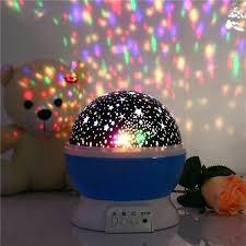 baby night light projector romantic room novelty night light projector lamp rotary flashing starry star moon baby night light