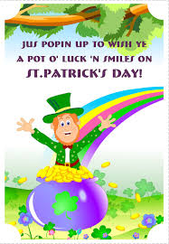 Free Greeting Card Printables Free Printable A Pot Of Luck St Patricks Greeting Card