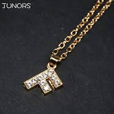 1pcs lot hot s crystal tiny gold initial necklace silver gold letter necklace for women