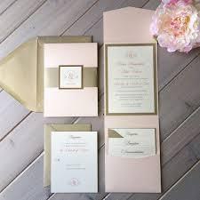 best 25 pocket invitation ideas on pinterest wedding invitation Pink And Gold Wedding Invitation Kits blush pink and light gold wedding invitations pink gold and Pink and Gold Glitter Wedding Invitations