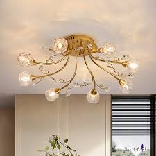 radial dining room semi flush light