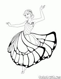 Disegni Da Colorare Fata Farfalla E Danze