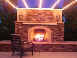 stone outdoor fireplace spaces with none