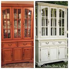 before after china cabinet transformation with annie sloan chalk paint