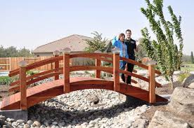 how to build a garden bridge with an arch arched garden bridge high arch redwood moon