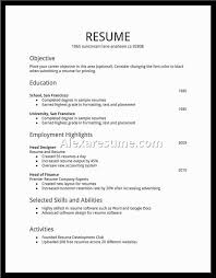 resume simple example example resume for job example resume for first job