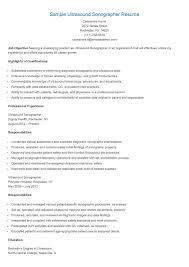 Cardiac Sonographer Resume 62 Images Best Example Resumes