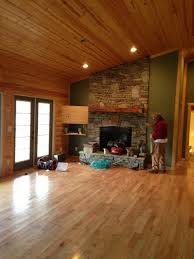 wood colored paintInterior Paint Color for Log Cabin Style Greatroom