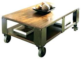coffee table on wheels vintage with old lack industrial uk
