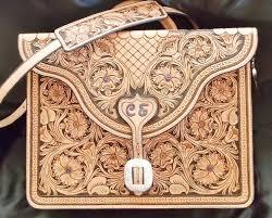 custom made hand carved fl tooled briefcase