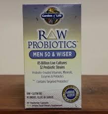 details about raw probiotics men 50 wiser 90 vegetarian capsules 85 billion garden of life