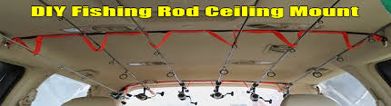 diy ceiling mount fishing rod rack for your vehicle