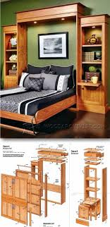 Built In Bed Plans Best 25 Murphy Bed Plans Ideas On Pinterest Murphy Bed Frame
