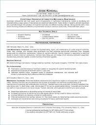 Maintenance Technician Resume Inspiration 3416 24 Inspirational Maintenance Technician Resume Wtfmaths