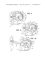 Rotary locking mechanism for outside vehicle door handle diagram