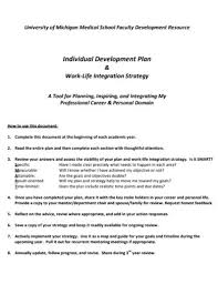 What Are Your Personal And Career Goals Free 18 Individual Development Plan Examples Samples In