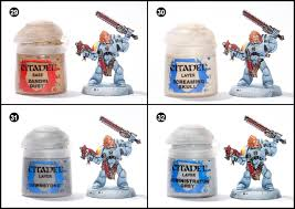 Space Wolves Colour Chart Tutorial How To Paint Space Wolves Blood Claws Tale Of