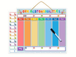 Family Responsibility Office Payment Chart Le Yogi Magnetic Our Responsibility Chart Dry Erase Family Reward Chart For Children Or Task Planner For Refrigerator Teaches Good Behaviour