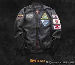aliexpress men s air force no 1 fashion handsome fashion flying suit jacket new 2018 youth jacket tan boyfriend coat man leather jackets from