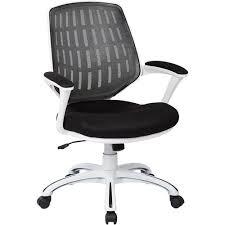 AveSix  CALVIN 5Pointed Star Nylon And Mesh Ergonomic Chair BlackWhite  Frame Ergonomic Study Chair56