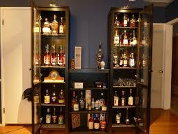 glass liquor cabinet