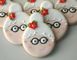 Image result for decorate cookies with mrs claus