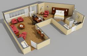 Apartment: 3D Large Modern One Bedroom Apartment Using King Sized ...