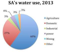 Pie Chart Of South Africas Water Use In 2013 Source Dwa