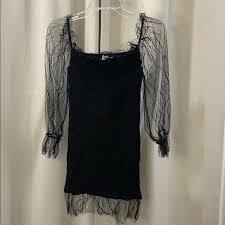 Princess Polly Dresses   Little Black Lace Sleeve Dress   Poshmark